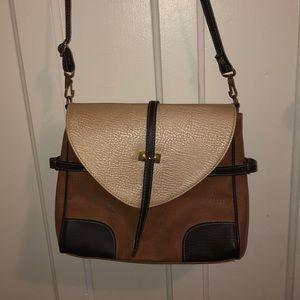 Vegan leather cross body bag